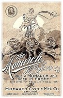 'The Monarch - King of Bicycles' 1903 Advertisement