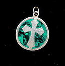Lovely Mexico Sterling Silver Cross Pendant