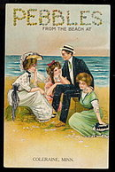 1910 Pebbles from the Beach Coleraine, MN Postcard