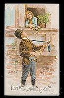 1880 Estey Organ Company Man Singing Trade Card