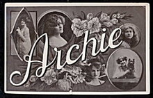 """""""Archie"""" Name 1907 Postcard - Great"""