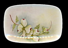 """""""Rosella"""" Signed Floral Pin Tray - Early"""