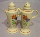 """1950s Made in Japan 4 1/2"""" Teapot Salt & Peppers"""