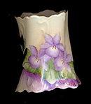 Vintage MZ Austria Violets Floral Porcelain Toothpick
