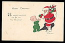 1920 E Weaver Santa Claus Postcard
