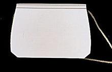 Vintage Mark Cross Vinyl & Leather White Purse