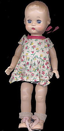 """1951-1955 Ideal 9"""" Lolly or Tiny Girl Doll"""