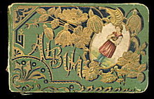 Late 1800s Autograph Album - Lovely Cover