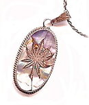 Vintage .925 Mexico with Mother of Pearl Floral Pendant