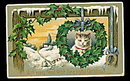 Lovely Christmas Cat/Kitten 1912 Postcard