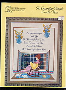 'As Guardian Angels Cradle You' Cross Stitch Pattern