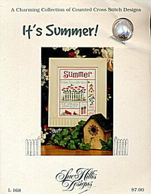 'It's Summer!' Cross Stitch Sampler Sampler