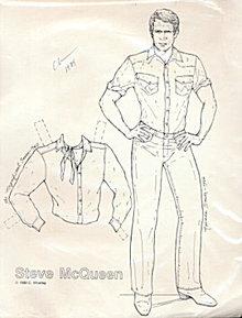 Artist 1989 Steve McQueen Paper Dolls - C Whatley