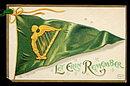 Ellen Clapsaddle St. Patricks Day Flag Postcard