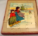 Early Children Dutch Scroll Puzzle - in Box