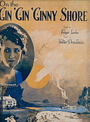 1922 'On the Gin, Gin, Ginny Shore' Flapper Sheet Music