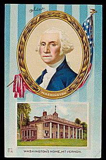 1907 George Washington & Mt. Vernon Postcard