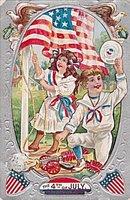 4th of July Children & Firecrackers 1910 Postcard