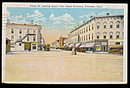Fremont, OH, Front Street 1939 Looking South Postcard