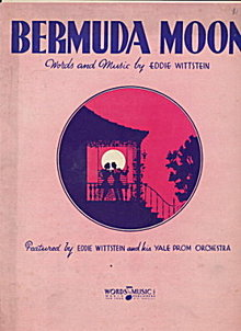 """Bermuda Moon"" 1936 Sheet Music"