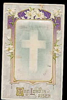 Winsch Silk Inset Easter 1910 Postcard
