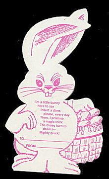 1954 Androscroggin (Maine) Dime Bunny Bank