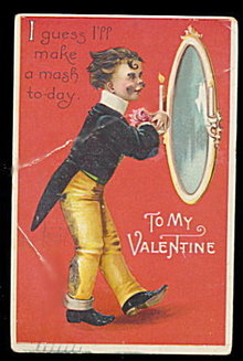 Ellen Clapsaddle Boy Valentine's Day 1912 Postcard