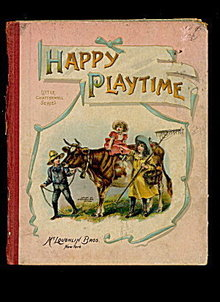 1901 McLoughlin Bros 'Happy Playtime' Childrens Book