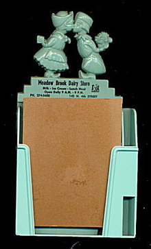 Chillicothe, ILL Meadow Brook Dairy Store Memo Holder