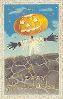 1910 Jack O'Lantern JOL Halloween Postcard