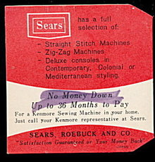 Vintage Sears/Kenmore Promotional Needle Case/Folder