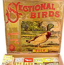 1890s Milton Bradley 'Sectional Birds' Puzzle