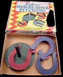 Milton Bradley 1930s Indoor Horse-Shoe Pitching Game