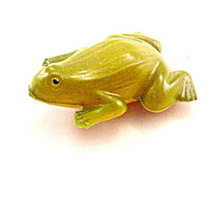 ca 1920s Viscaloid Celluloid Frog Toy
