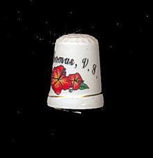 St. Thomas Virgin Islands Souvenir Porcelain Thimble