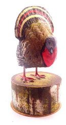 Early 1900s Thanksgiving Candy Container - Turkey