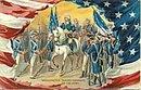 Tucks Washington Taking Command Of The Army Postcard