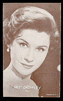 Pat Crowley (Actress) 1950s Arcade Card