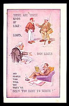 "Bamforth ""Liar, Liar"" Comic 1912 Postcard"