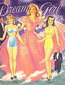 "1995 ""Dream Girls"" Paper Dolls Set, Uncut"