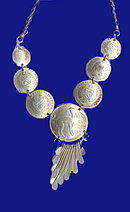 1970s Peruvian Coins Necklace