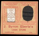 Early Sewing Society Eberle's Store Needle Book