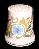 1970s Avon Porcelain Floral Thimble
