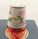 Lefton Floral Porcelain Thimble in Box