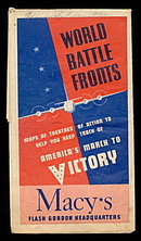 1943 Macy's World Battle Fronts Maps of Theatres
