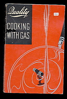 1936 Quality 'Cooking with Gas' Recipes Cookbook