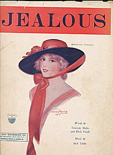 "1924 ""Jealous"" Frederick Manning Sheet Music"