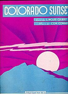 "1938 ""Colorado Sunset"" Sheet Music"