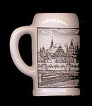 Heidelberg Germany Old Lithographed City Scene Stein