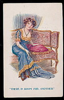 'There is Room for Another' Sitting Girl 1908 Postcard